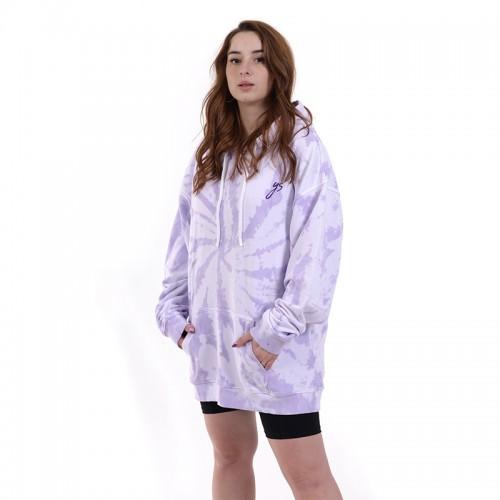 Oversized Lilac Tie Dye Hoodie